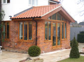 oak conservatory and windows