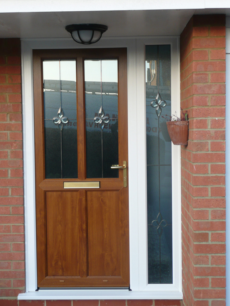 Light Oak Composite Front Door Part - 18: Light Oak Upvc Door